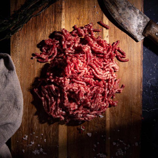 Carne picada de buey premium